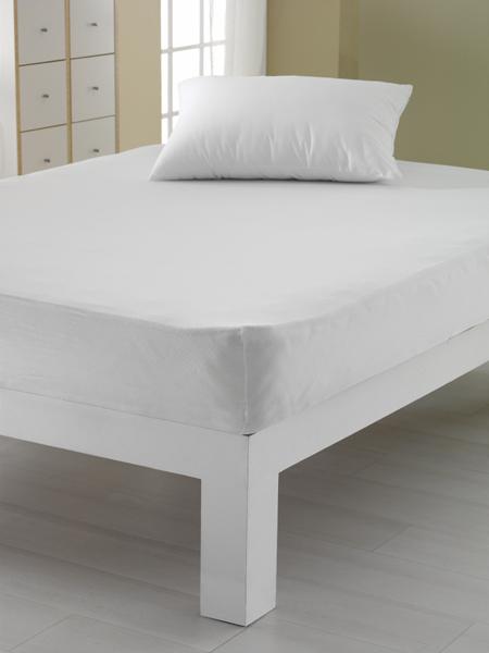 Spannbettlaken Jersey in weiß 155 g/qm