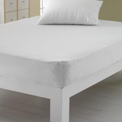 Spannbettlaken Jersey in weiß 140 g/qm