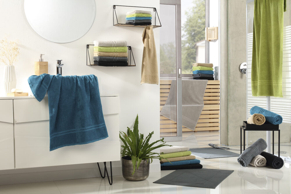 Handtücher farbig Frottierwäsche